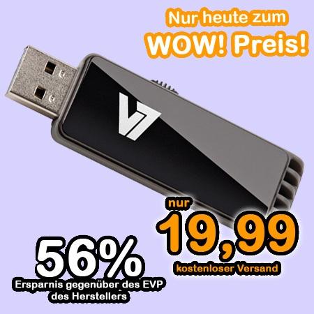 v7 1wow Video7 USB Stick mit 16 GB Speicher nur 20€ inkl. Versand (Preisvergleich 26€)